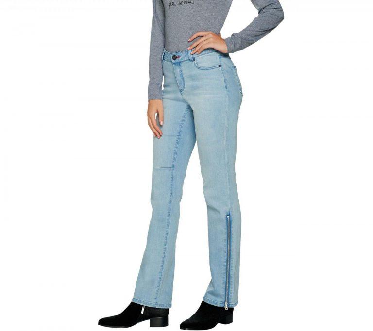 Peace Love World Boot Cut Denim Jeans With Side Zip De A