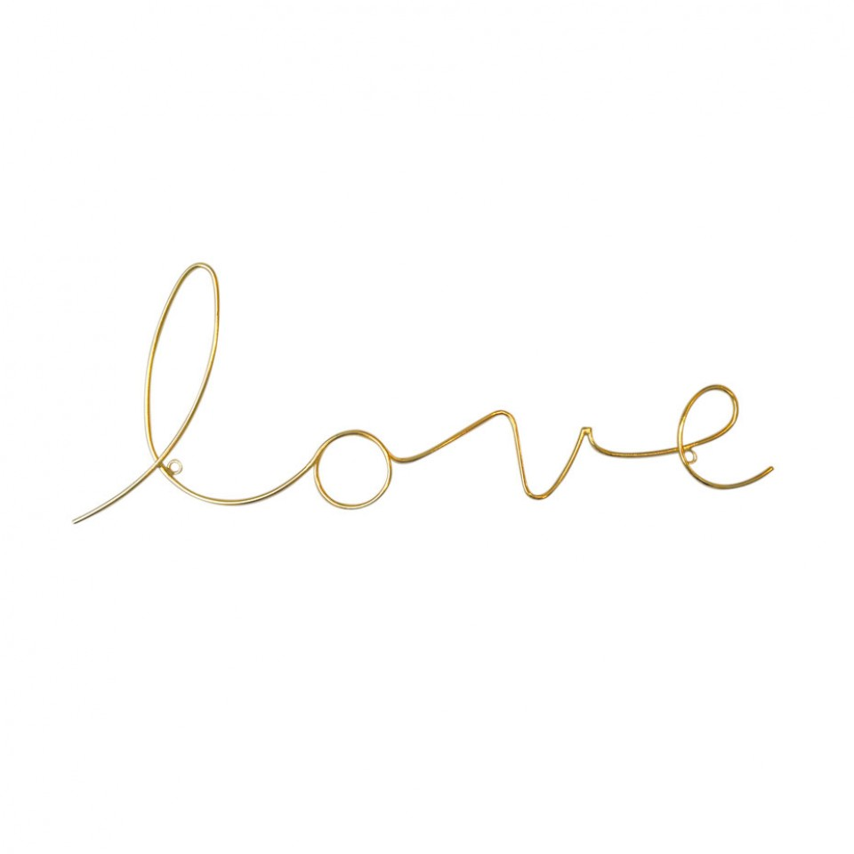 Love Wire Word Gold