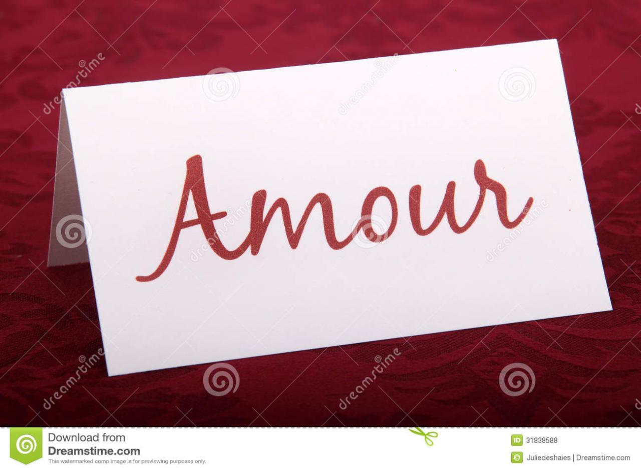 Amour Card Love
