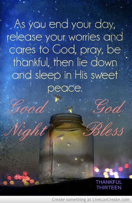 Good Night Bless Picture Created By Lorri Mc Um Image Tagged With Inspirational