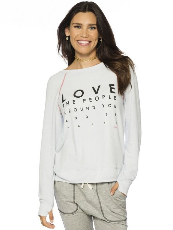 Love The People Around You And Be Happy Oversized Comfy Top
