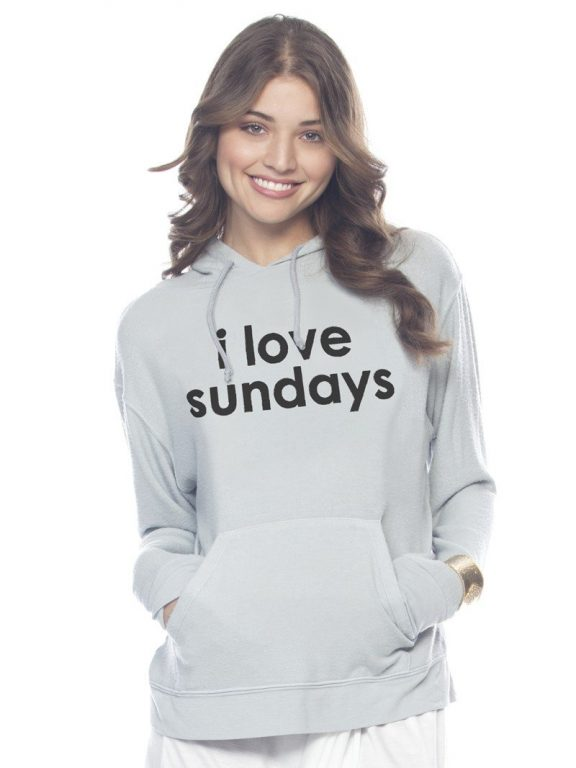 Peace Love World Clothing I Love Sundays Moonstone Pullover Hoodie Hoodies Women