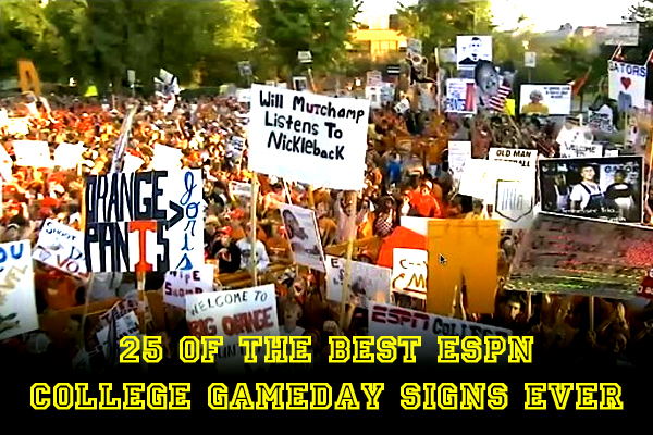 Of The Best Espn College Gameday Signs Ever
