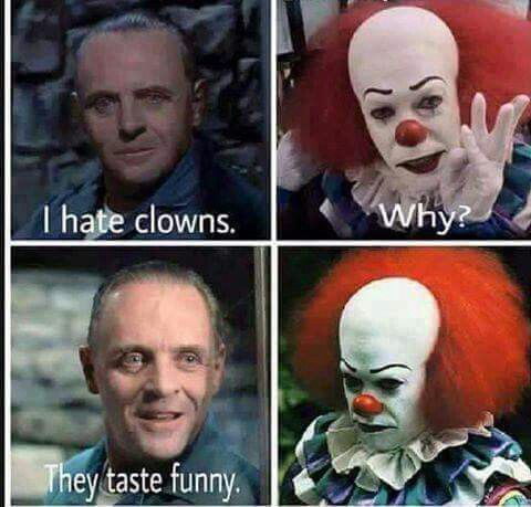 Check Out Why Hannibal Lecters Clowns It Is Hilarious Why The Worlds Most Famous Cannibal Has A Problem With Killer Clowns