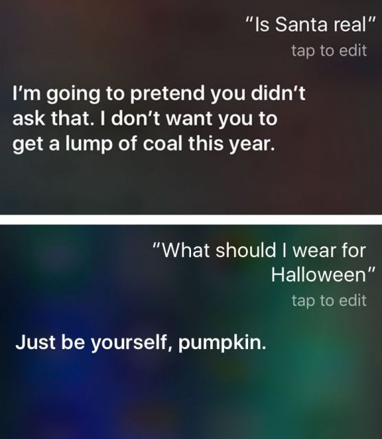 Funny Things To Ask Siri Is Santa Real