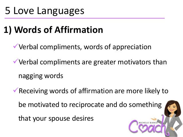 Love Languages E A Words Of Affirmation