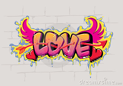 Conception De Graffiti D Amour Conception De Graffiti Damour Images Stock Image