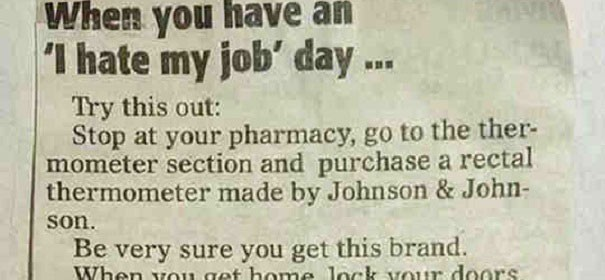 When Youre Having A Bad Day At Work Read This Very Old Article
