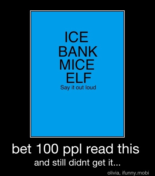 Ice Bank Mice Elf Now Say It Out Loud Ahaaa Sounds Like I Spank Myself