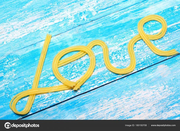 Insrption Love Word Love Cyan Wooden Background Valentine Day