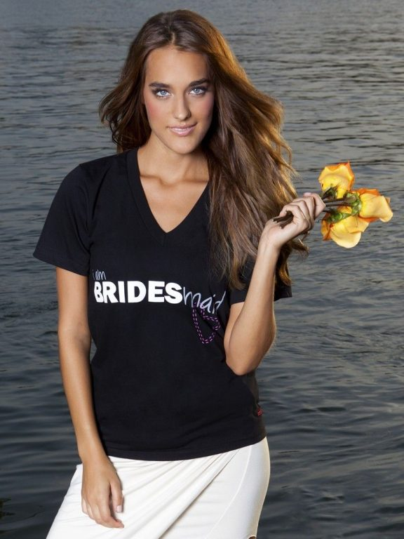 I Am Bridesmaid Black V Neck Tee Beatsi Amv Neckspeace Love Worldblack Tees Wedding