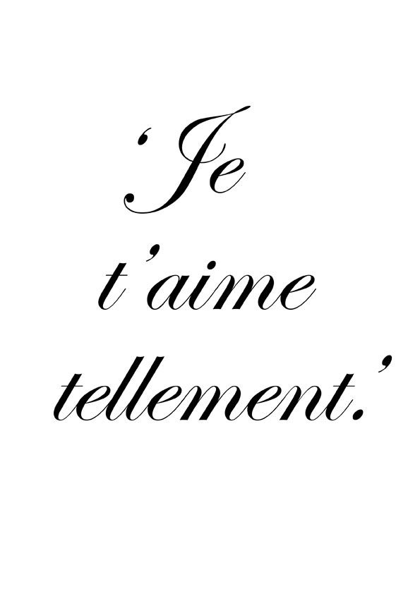I Love You So Much  C B French Words