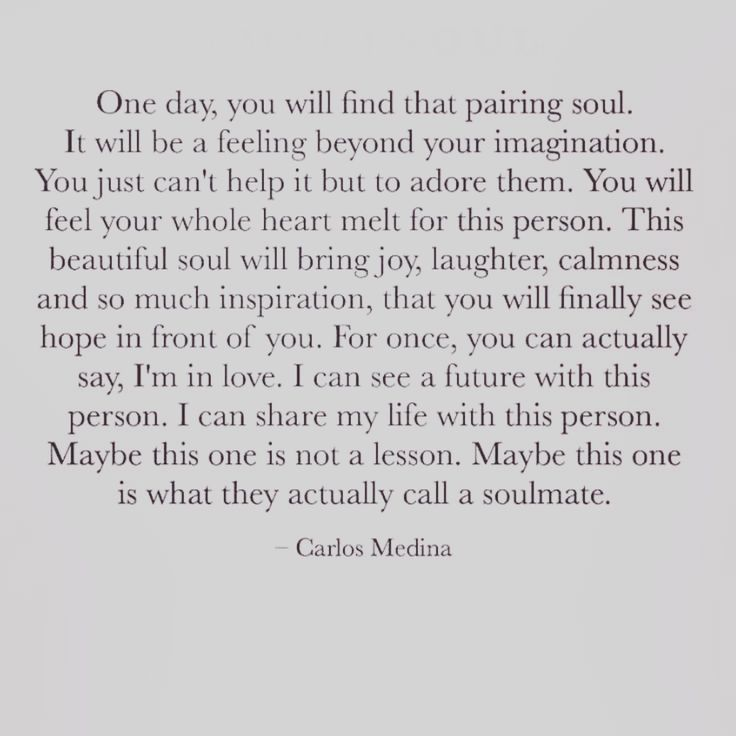 Carlos Medina Quote Words Soulmate Soul