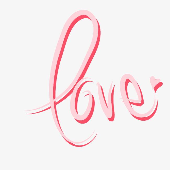 Pink Love Word Art Vector Pink Love Pink Love Wordart Pink Love Vector
