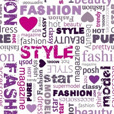 Fashion Word Collage Vector Il Ration