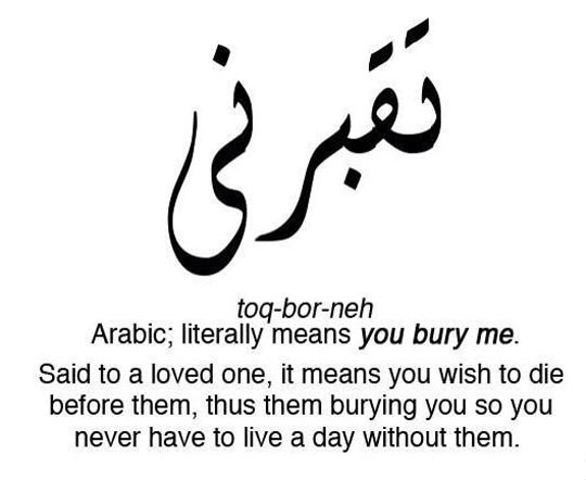 Funny Arabic Word Bury Me Translation