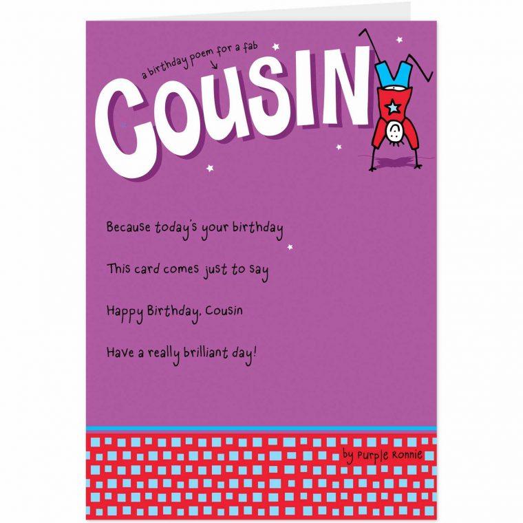 Funny Birthday E Cards Unique Happy Birthday Cousin Poems