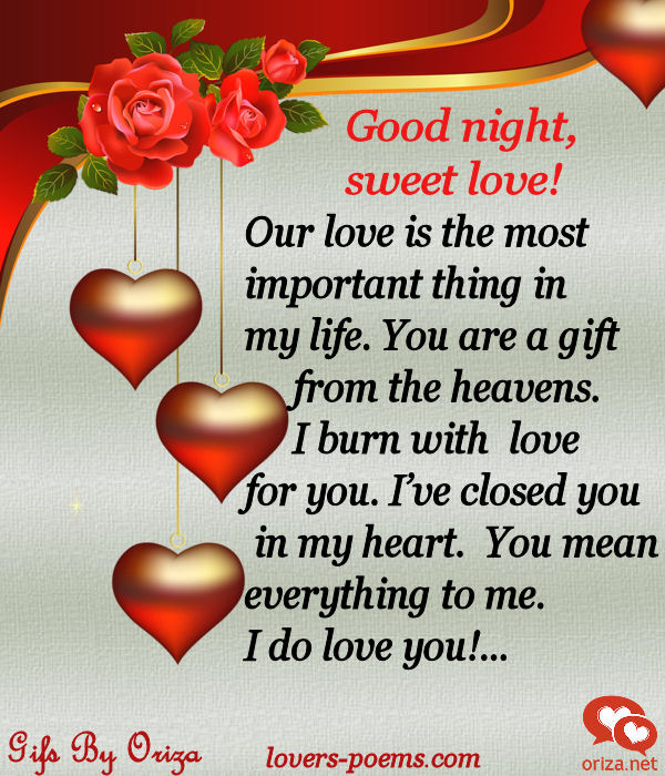 Love Word For Good Night Hover Me