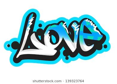 Graffiti Vector Art Urban Design Element Love Word