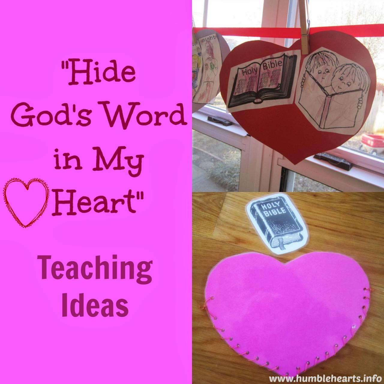Hides Word In My Heart Teaching Ideas