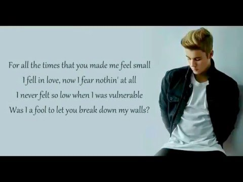 Love Yourself Justin Bieber Lyrics