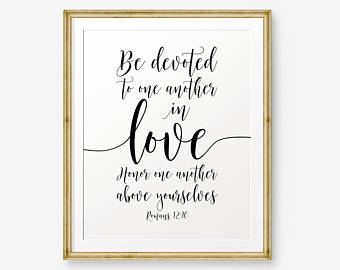Verses Printable Romans Be Devoted To One Another In Love
