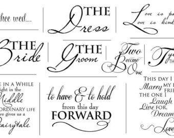 Wedding Artful Words Overlays Set Of