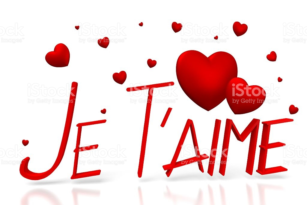 D Jet Taime I Love You French Royalty Free Stock P O