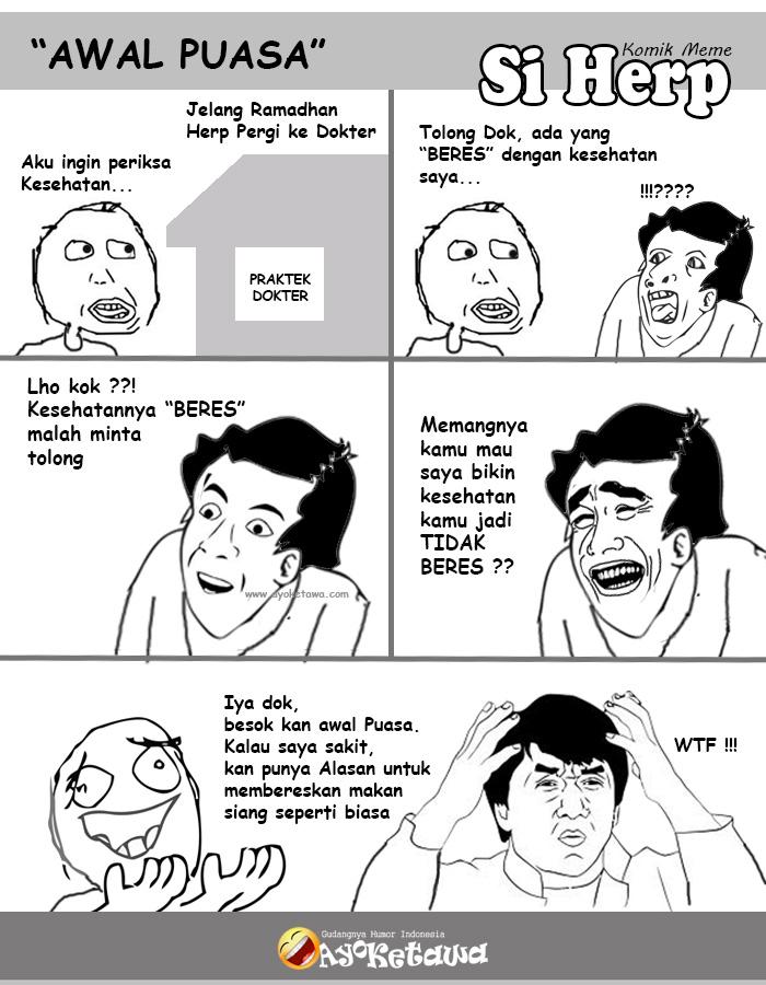 Serial Komik Meme Si Herp Awal Puasa Ayo Ketawa Gudangnya Humor Indonesia