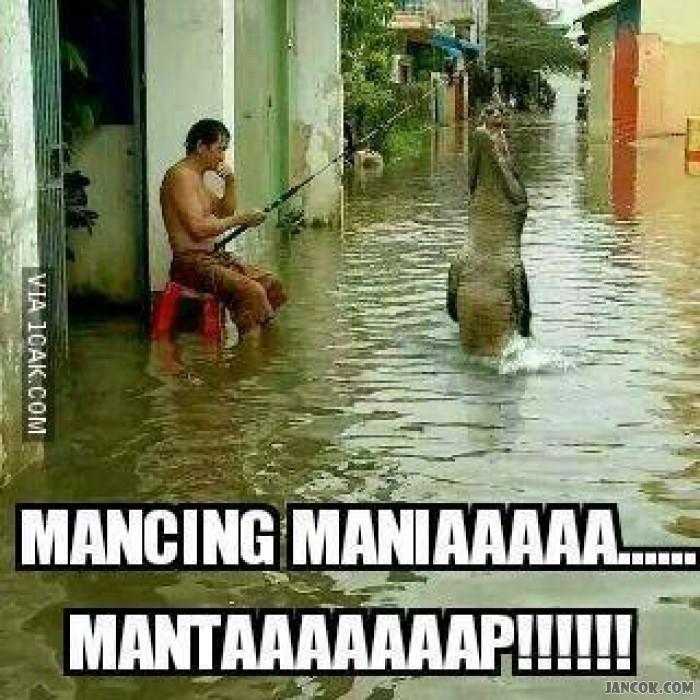 Jakarta Banjir Mancing Mania Bisa Dilakukan Di Rumah