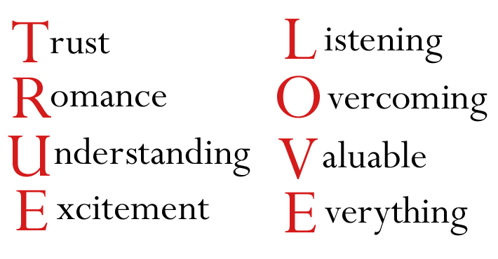 Full Form Of The Word Love