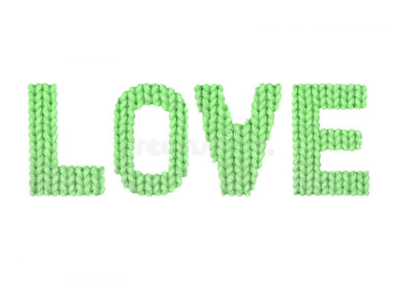 Download Love Color Green Stock P O Image Of Font Knitwear