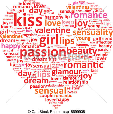 Love Heart Word Cloud Concept Csp