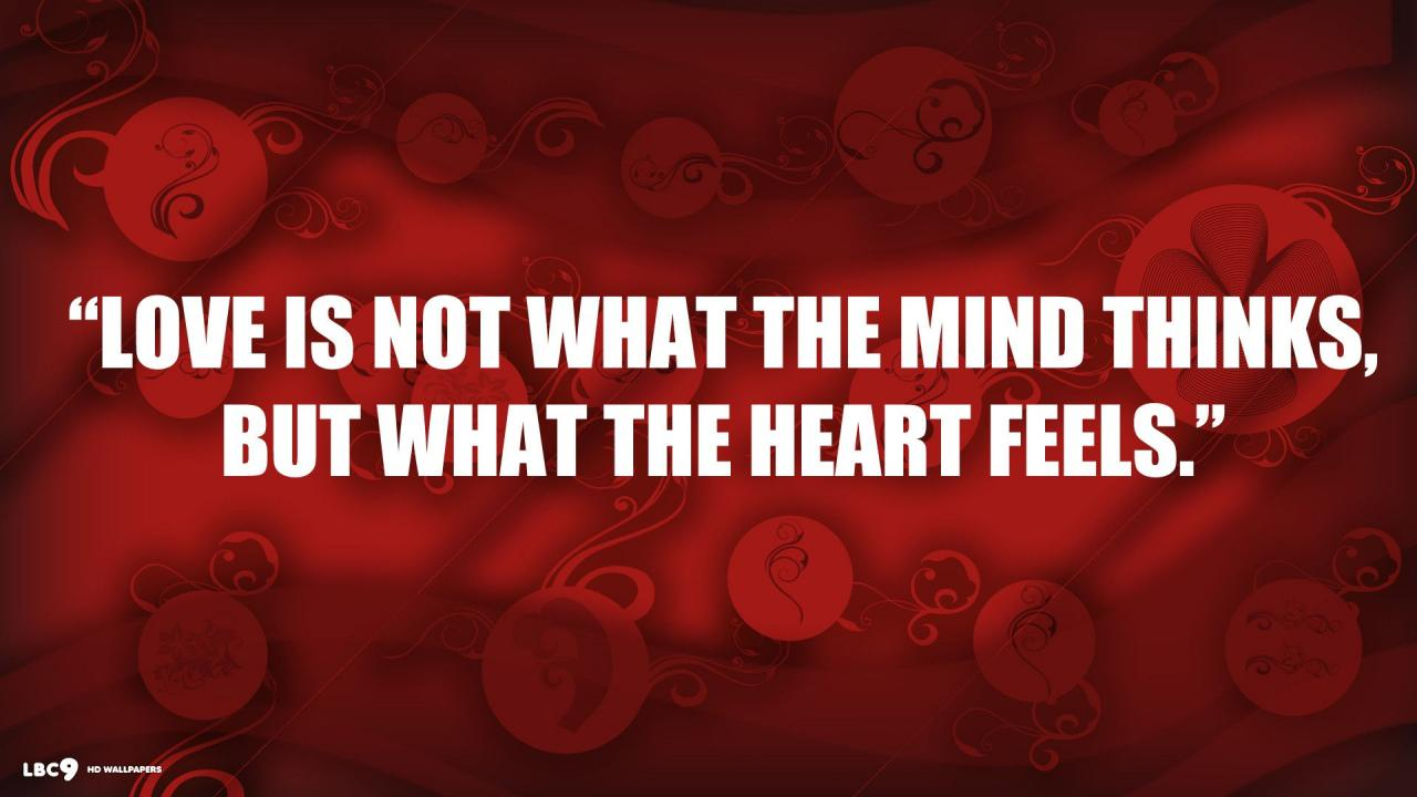 Love Quote What Heart Feels Red Hd Wallpaper