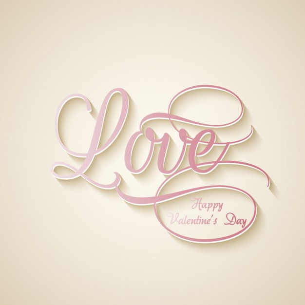 Love Word Background Free Vector
