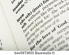 Art Print Poster Love Word