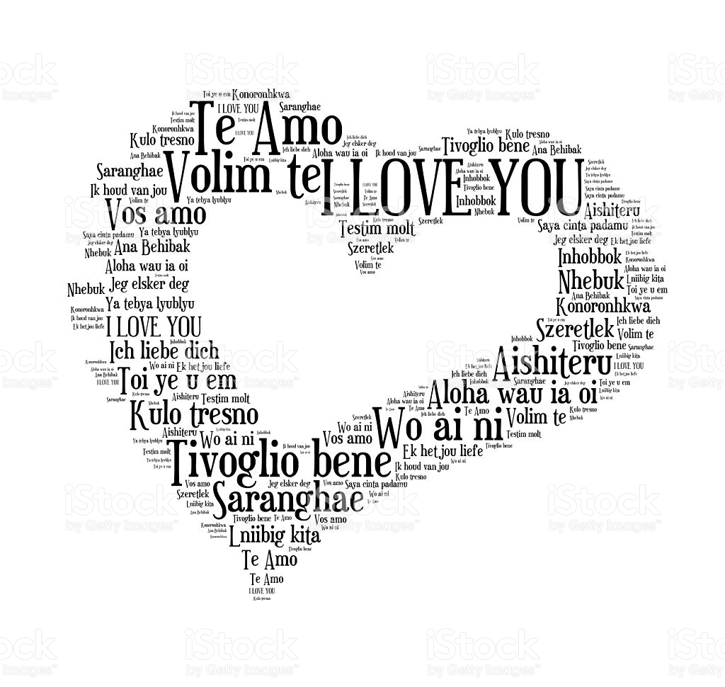 I Love You Words In Different Languages Of The World Royalty Free Stock
