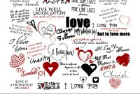Love Word Art Collection