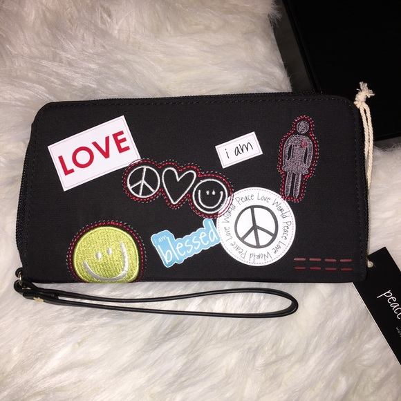 Peace Love World Wallet