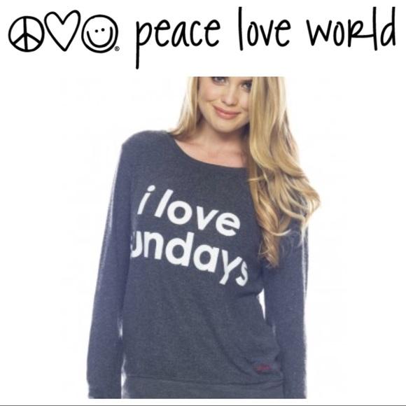 Peace Love World I Love Sundays Sweatshirt