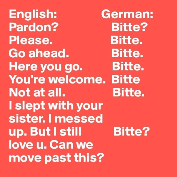 The Word Bitte Could Be Used In Many Ways