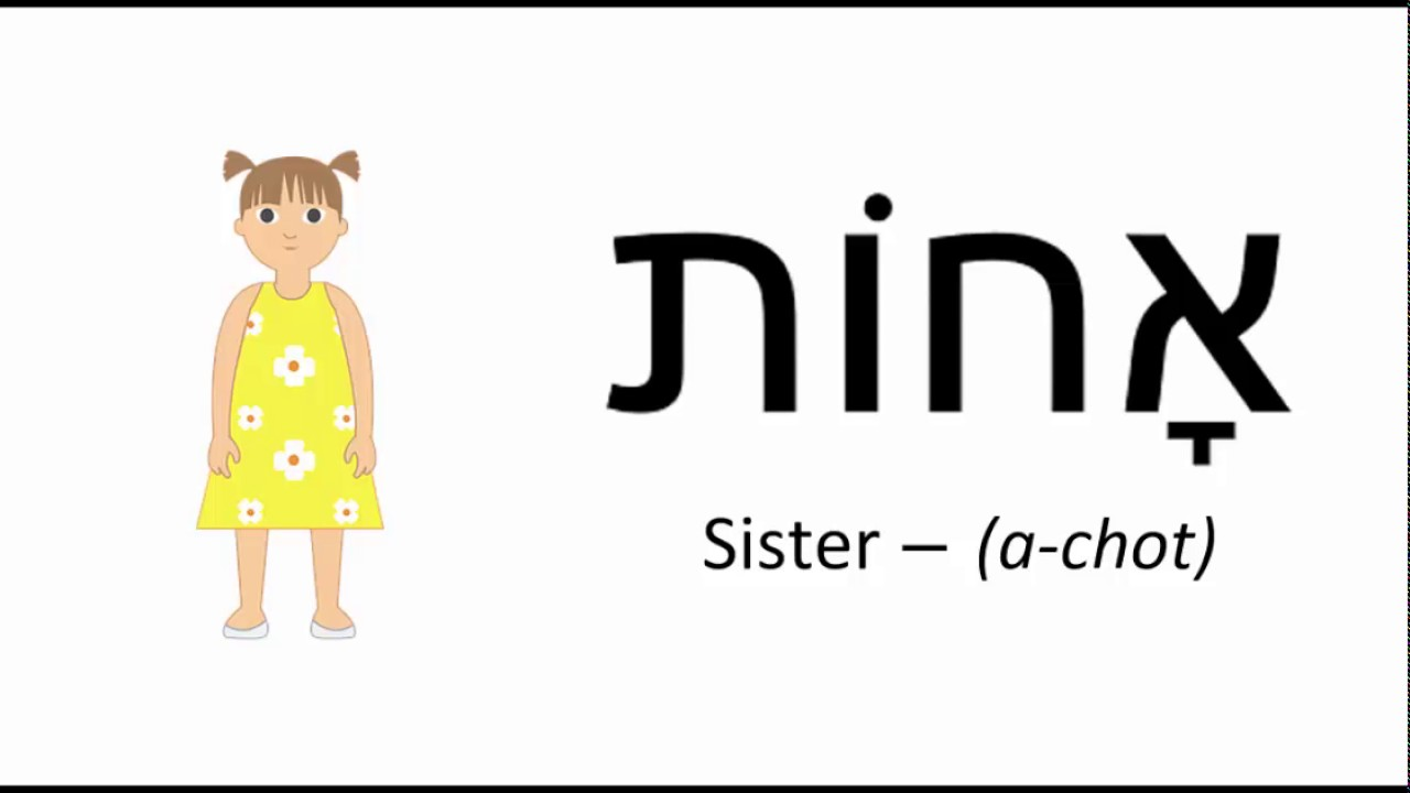 How Toounce Sister Hebrew