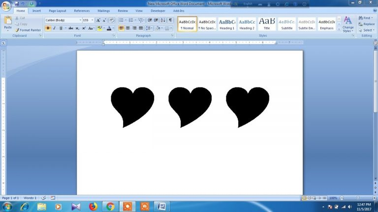 How To Insert Love Symbol In Ms Word