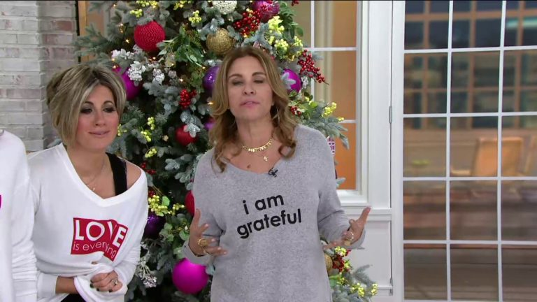 Peace Love World V Neck Comfy Knit Long Sleeve Top On Qvc