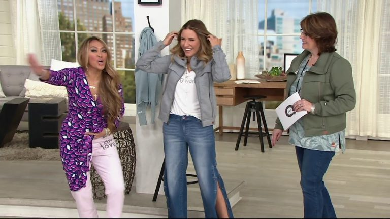 Peace Love World Button Side Full Length Pants On Qvc