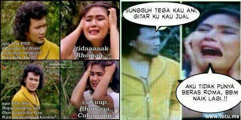 Meme Lucu Rhoma Ani Drama Lebay Ini Bikin Ketawa Ngakak
