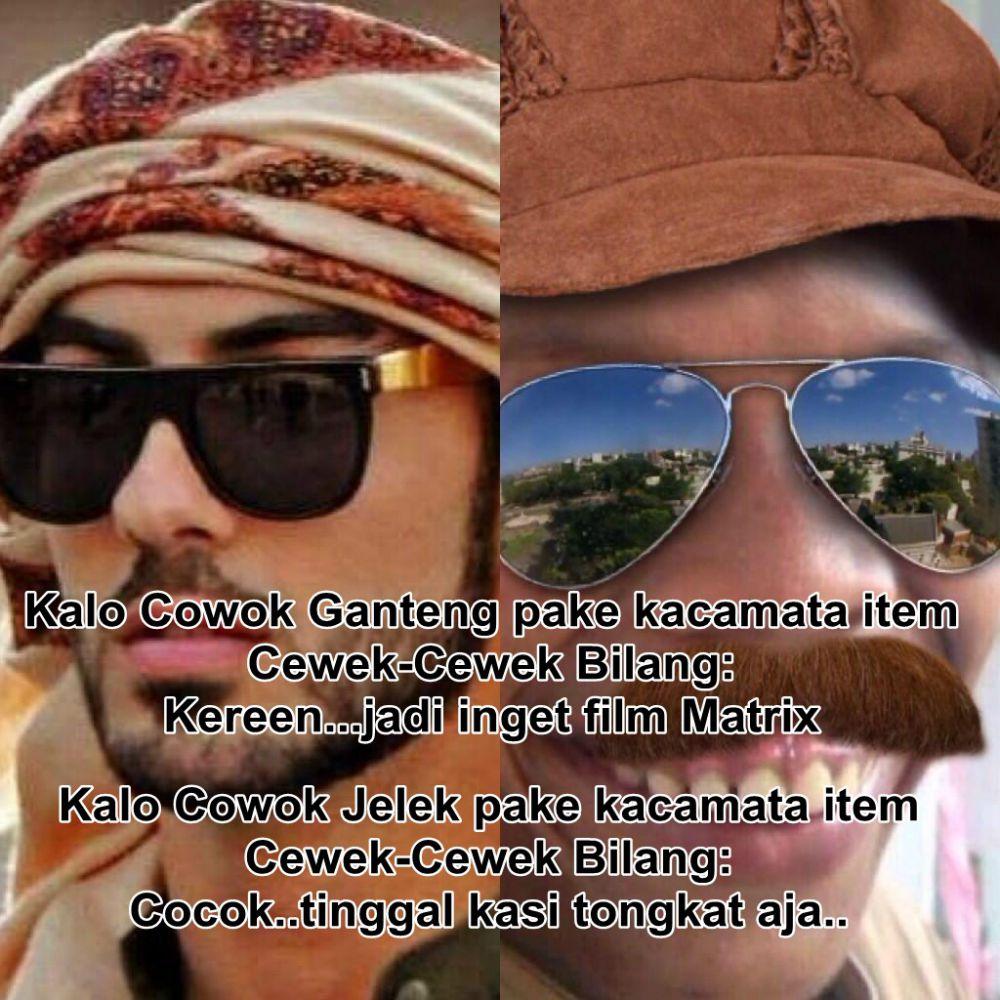 Meme Beda Pakai Kacamata Ini Tak Hlucu Tapi Bisa Juga