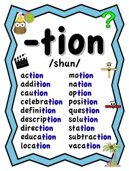 Phonics Word Work Tion Sion Cian