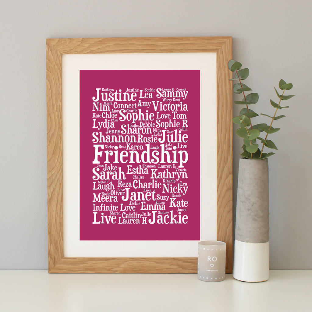Personalised Word Art Print