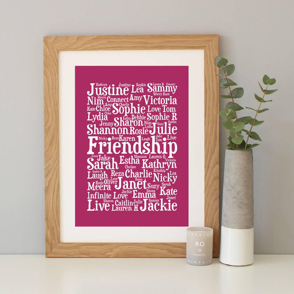 Personalised Word Art Print